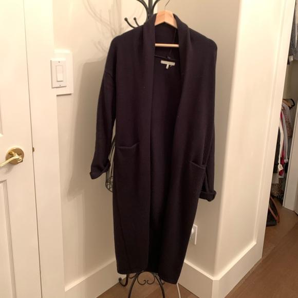 Oak and fort long black cardigan
